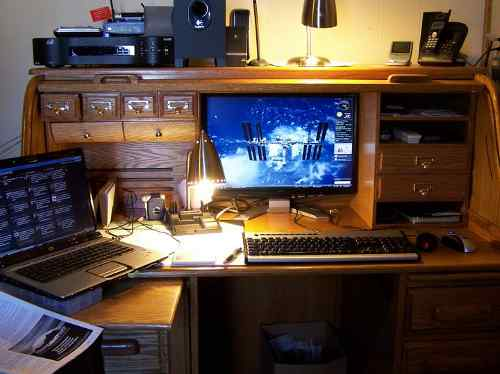 Computer Desk Of Brian Hawkins