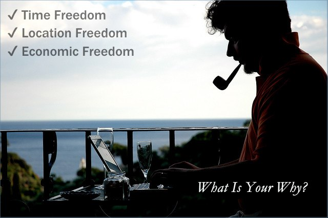 <h5>▲ What Is Your Why?</h5><p>To me, this image screams freedom of time, location, and money.  To others it could just as easily represent relaxation, vacationing, or moonlighting.  Put the image to work for your brand's story.</p>
