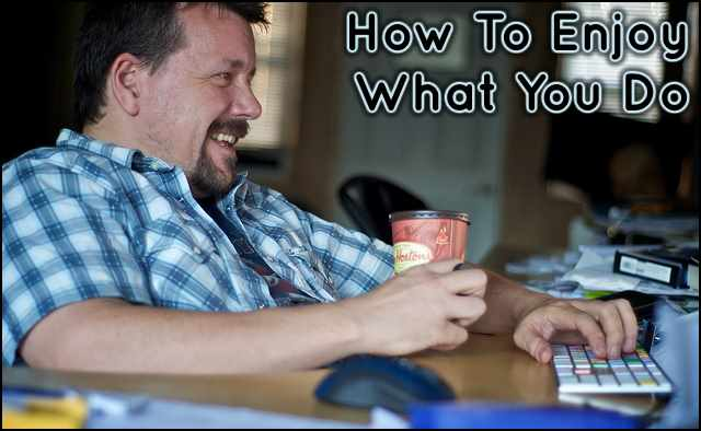 <h5>▲ How To Enjoy What You Do</h5><p>This could be a photo of anyone we know having a great time doing whatever it is we do.  In this case, he's on a computer. </p>