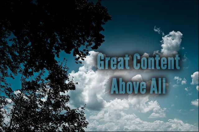 <h5>▲ Great Content Above All</h5><p>Take advantage of those great shots of the sky.  Collect sky and whether shots as often as you can.  You never know when you'll need your message high in the sky.</p>