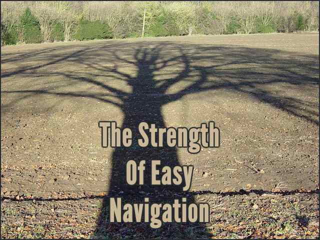 <h5>▲ The Strength Of Easy Navigation</h5><p>Shadows are cool! Trees are strong. Branches are as unique as they are connected.  Your imagination is the limit.</p>