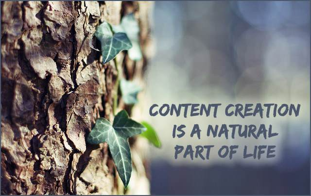 <h5>▲ Content Creation Is A Natural Part Of Life</h5><p>It doesn't get much simpler that a slice of nature and a nice message area blurred for effect.</p>