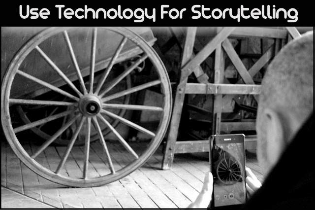<h5>▲ Use Technology For Storytelling</h5><p>A picture of someone taking a picture represents action.  The photo they are taking can tell a great story.  Your story!</p>