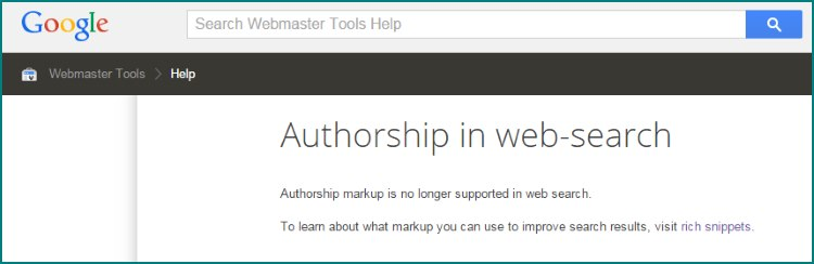 Bye Bye Google Authorship