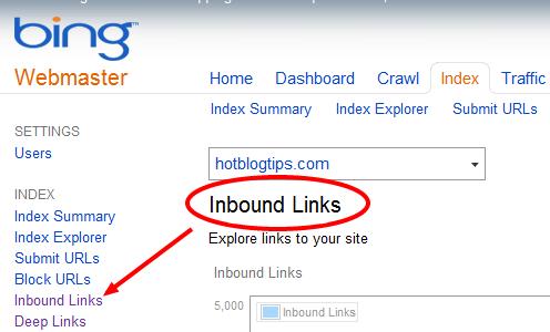 image - Bing Webmaster Tools
