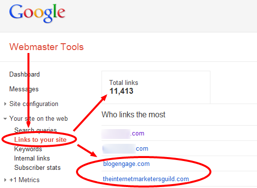 Webmaster Tools Links