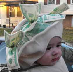 image - money hat - baby