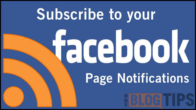 Facebook Page Notifications RSS Feed