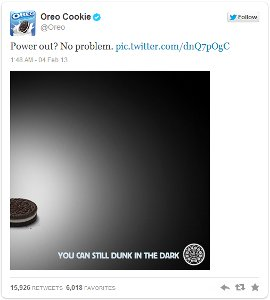 Oreo Super Bowl Tweet