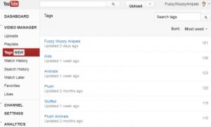 youtube tags list