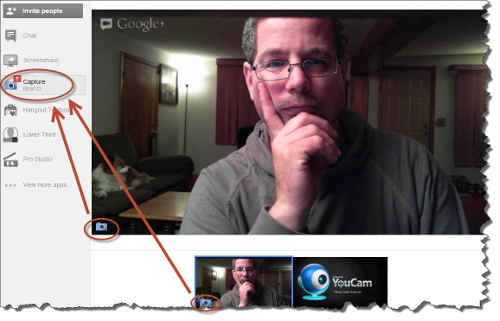 screenshot - Google Plus Hangouts Capture App