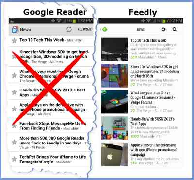 Google Reader to Feedly
