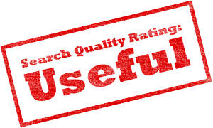Search quality rating stamp - Useful