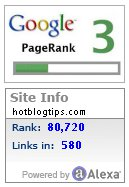 image - Google PageRank and Alexa Rank buttons