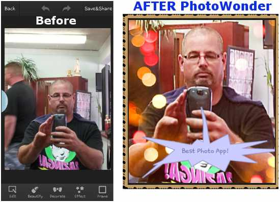 image - PhotoWonder - Before and After
