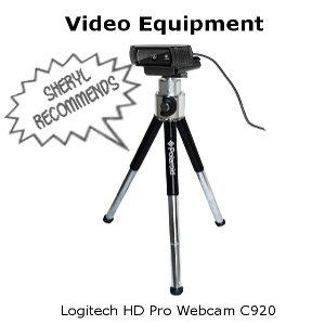 image - Sheryl recommends the Logitech HD Pro Webcam C920 video camera