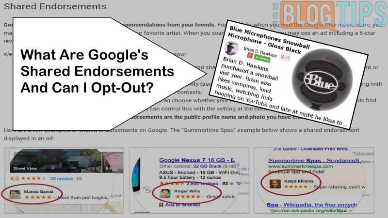 What Are Google's Shared Endorsements And Can I Opt-Out?