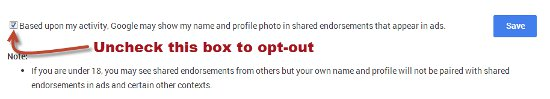 image - Shared Endorsements Opt Out