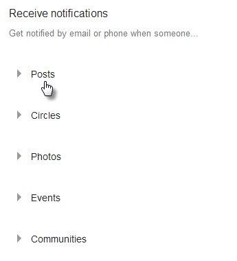 Post notifications