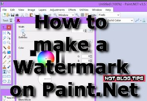 How to make a Watermark on Paint.Net