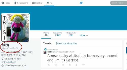 Twitter Username Changed