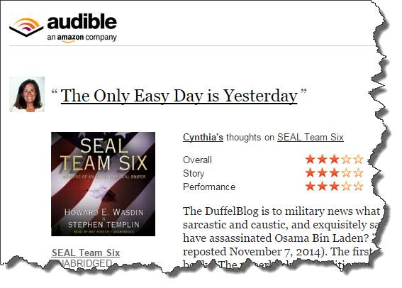 Audible - personalization example
