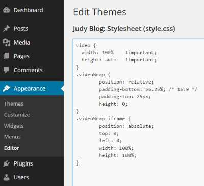 Using style css