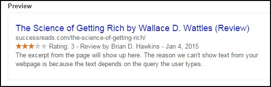 Rich Snippets SERPs Example