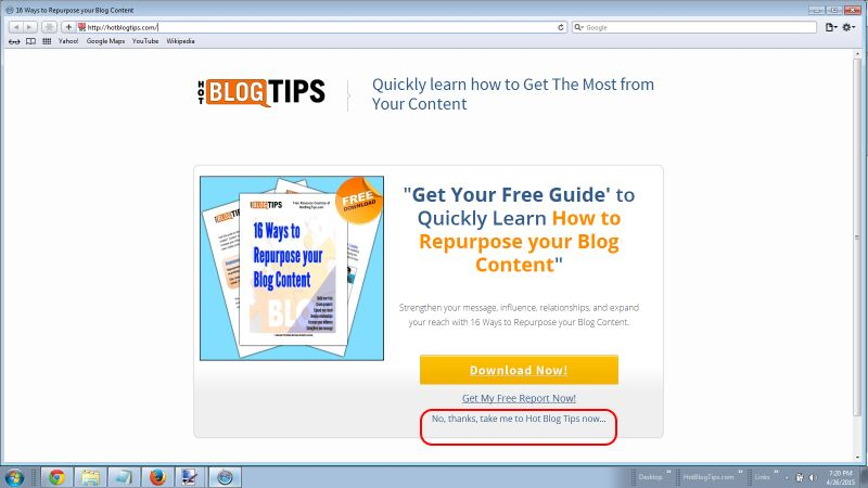 LeadPages Welcome Gate screenshot